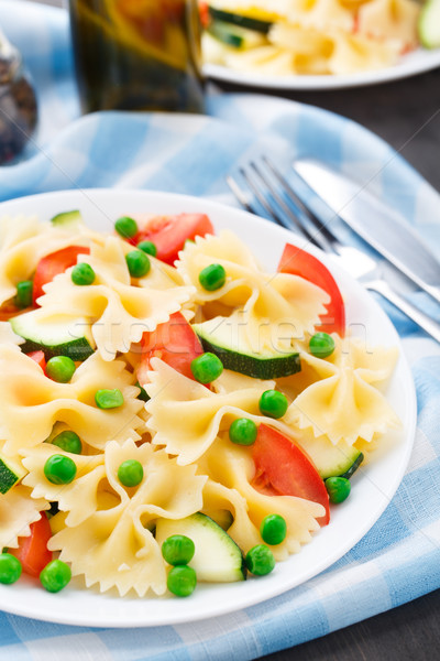 Сток-фото: пасты · цуккини · помидоров · горох · пластина · зеленый