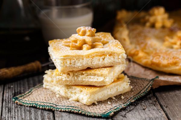 домашний пирог фаршированный Sweet продовольствие Сток-фото © vankad