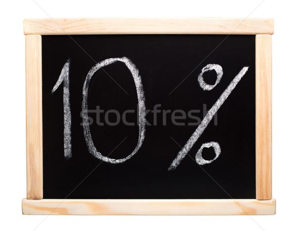 Ten percent written on blackboard Stock photo © vankad