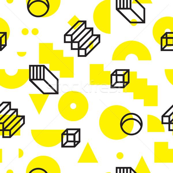 ストックフォト: 幾何学的な · ベクトル · ユニバーサル · 抽象的な
