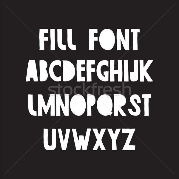 Foto d'archivio: Lavoro · carattere · semplice · moderno · lettere · nero