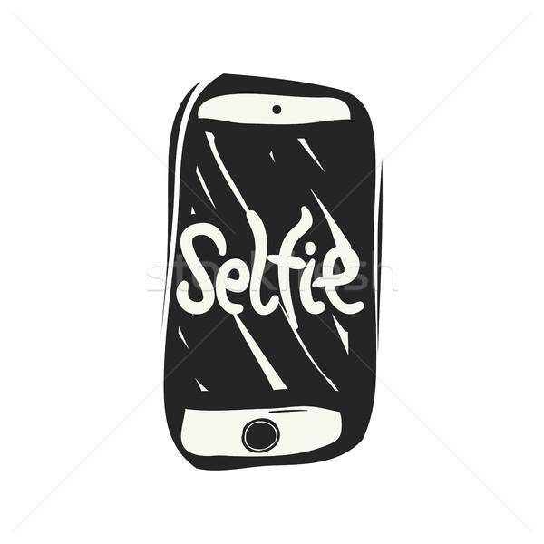 Elvesz fotó firka rajz okostelefon mobiltelefon Stock fotó © Vanzyst