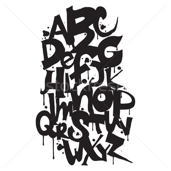 алфавит рисованной письма текстуры дизайна Сток-фото © Vanzyst