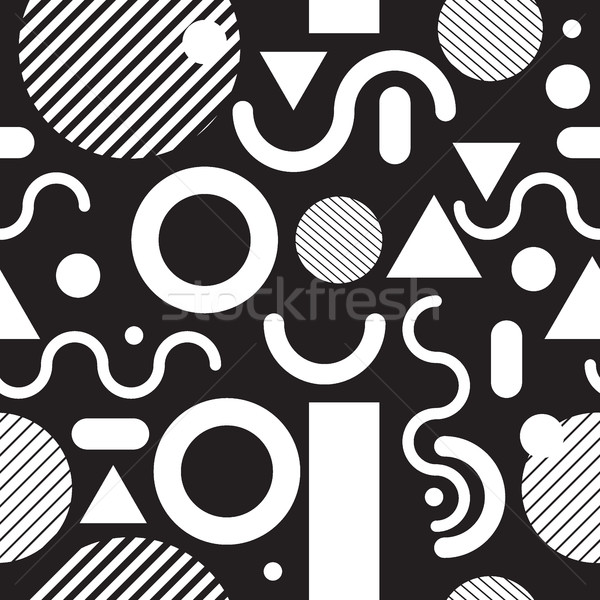 Fashion seamless pattern black and white Stock photo © Vanzyst