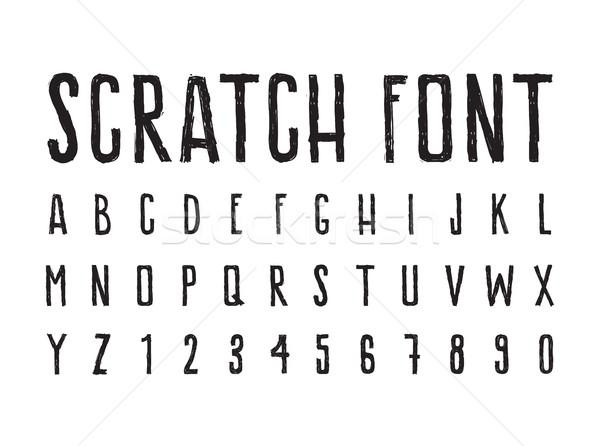 単純な 装飾的な フォント みすぼらしい 文字 ストックフォト © Vanzyst