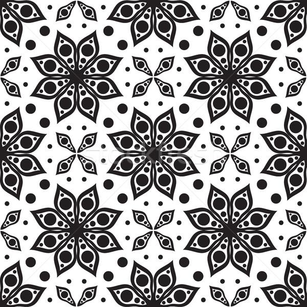 Wektora nowoczesne geometryczny tekstury kwiatowy Zdjęcia stock © Vanzyst