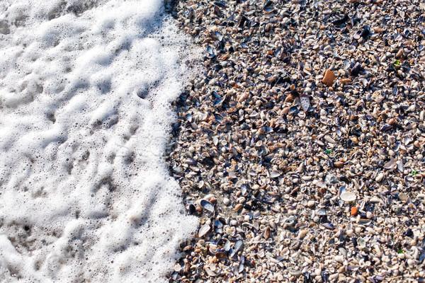 Foto stock: Macio · onda · preto · mar · praia · natureza