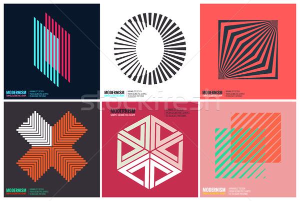 простота геометрический дизайна набор чистой линия Сток-фото © Vanzyst