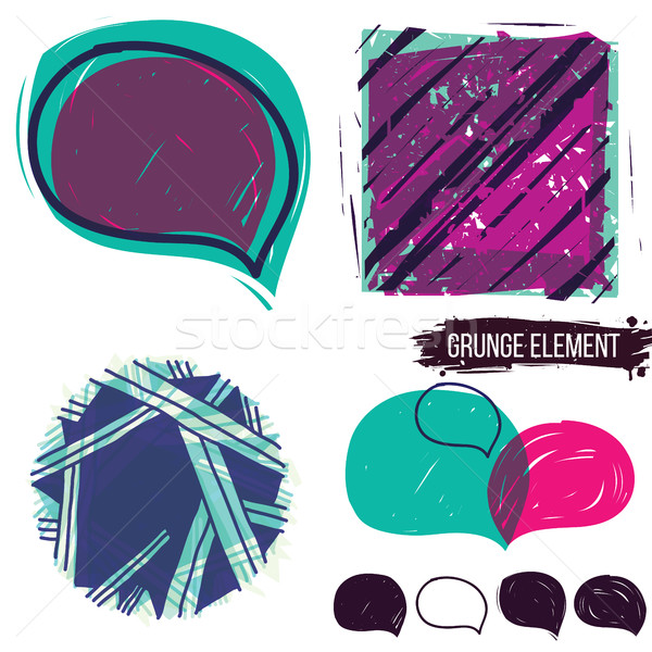 Abstract background, and bubble speech Stock photo © Vanzyst