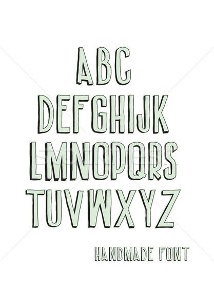 ストックフォト: ヴィンテージ · アルファベット順の · フォント · 手描き · スケッチ · アルファベット