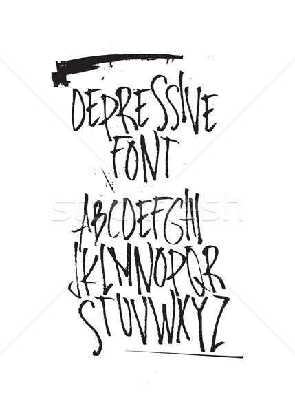 フォント 表現の 装飾的な スタイル 手描き 書道 ストックフォト © Vanzyst