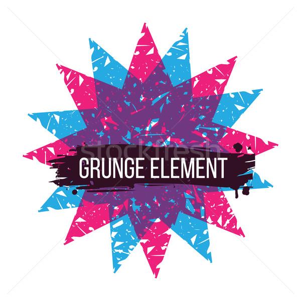 Kleur star grunge abstract kleurrijk Stockfoto © Vanzyst