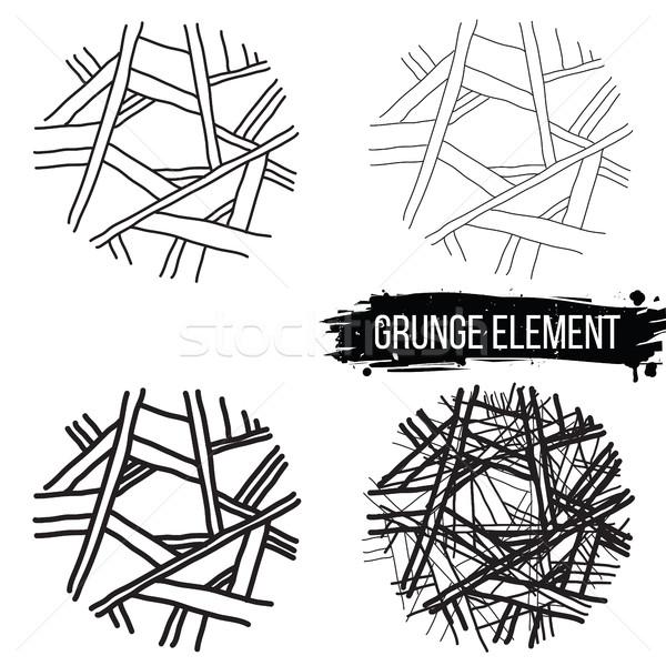 Zestaw streszczenie elementy projektu grunge symbolika Zdjęcia stock © Vanzyst