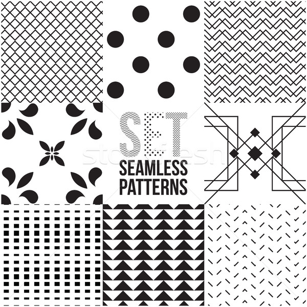 Universal different vector seamless patterns  Stock photo © Vanzyst