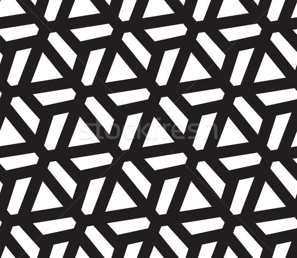 三角形 抽象的な 幾何学的な 現代 スタイリッシュ ストックフォト © Vanzyst