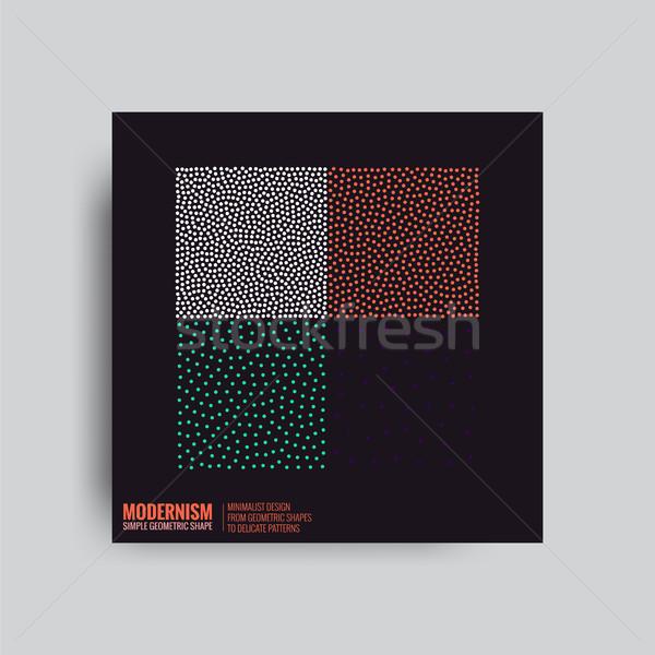 Soyut sanat grafik arka posterler Retro Stok fotoğraf © Vanzyst