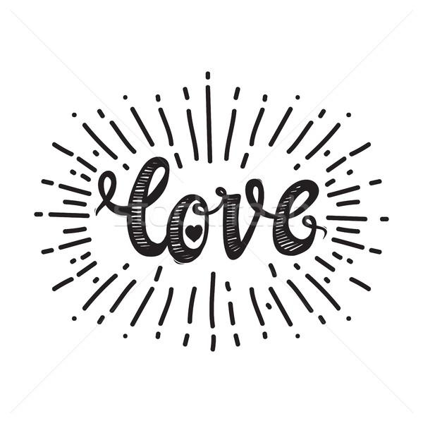 Love and starburst white Stock photo © Vanzyst