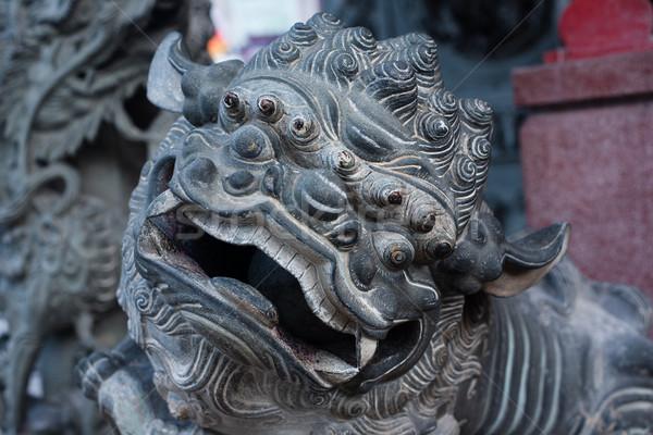 Ornamental sculpture dragon in Malaysia Stock photo © Vanzyst