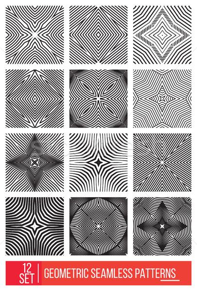 Сток-фото: набор · универсальный · различный · геометрический · 12