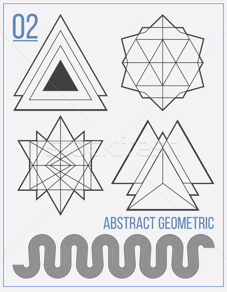 Set with separate abstract vector figures with title  Stock photo © Vanzyst