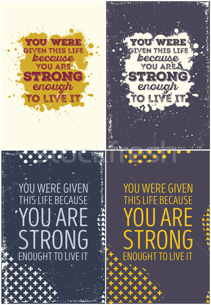 Stock photo: Set Of Vintage Typographic Poster. Motivational Quotes