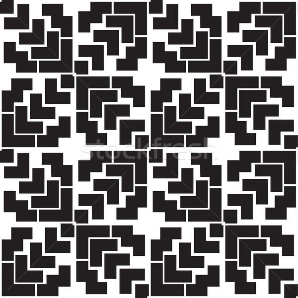 抽象的な 幾何学的な 広場 行 対称性 ストックフォト © Vanzyst