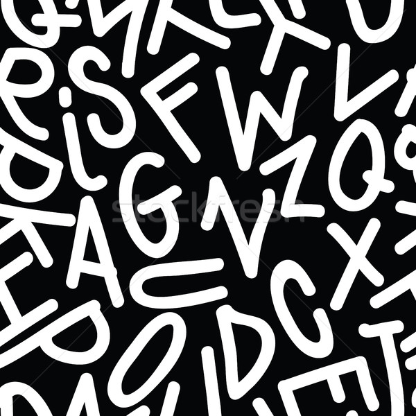 Art Seamless Pattern Font Stock photo © Vanzyst