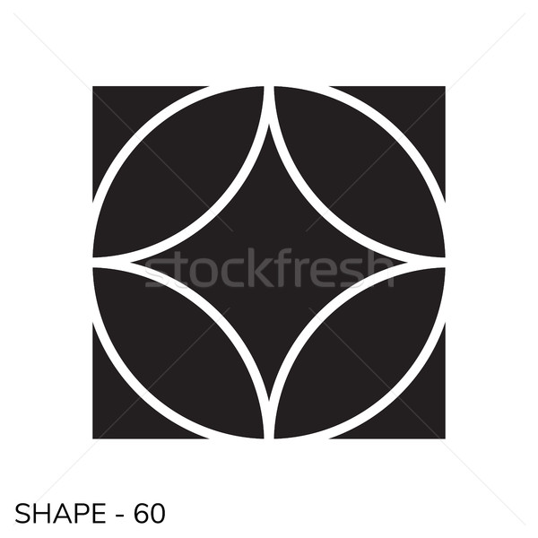 Simple Geometric Shape Stock photo © Vanzyst
