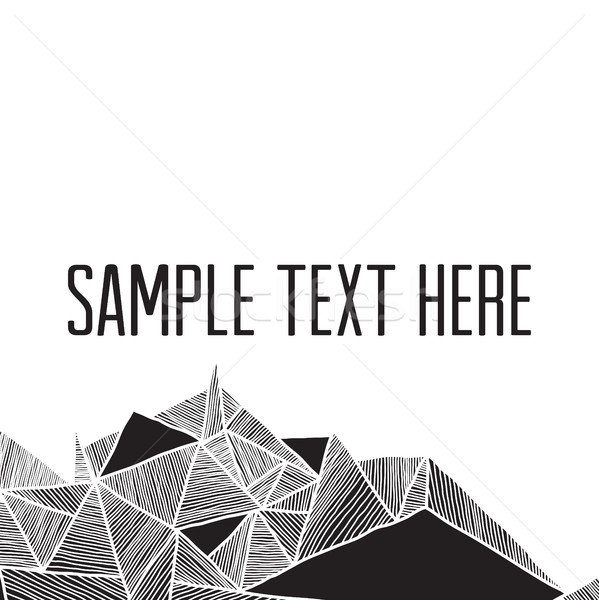 Abstract meetkundig moderne vierkante frame Stockfoto © Vanzyst