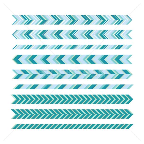 Underlines. Universal underscore lines. Geometric decorative ele Stock photo © Vanzyst