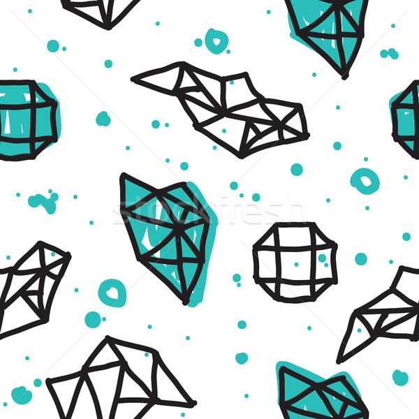 Geometryczny minimalny bezszwowy streszczenie wzór Zdjęcia stock © Vanzyst