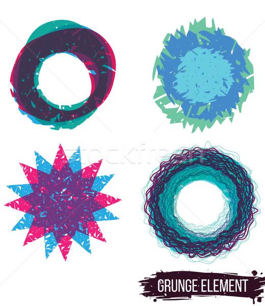 Zestaw kolor grunge streszczenie kolorowy Zdjęcia stock © Vanzyst
