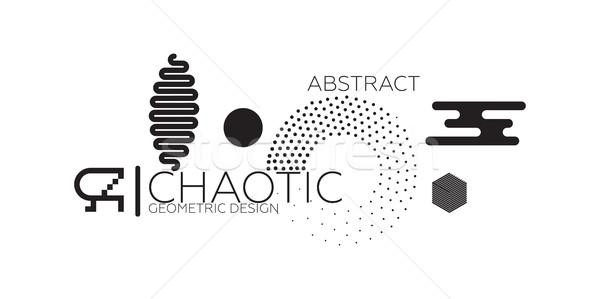 аннотация хаотический геометрический набор цветами Сток-фото © Vanzyst