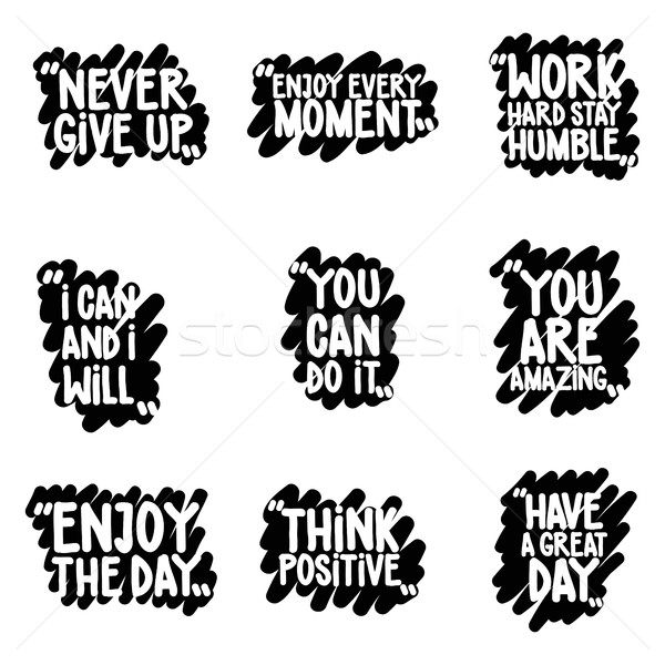 Handwritten Quote Set Stock photo © Vanzyst
