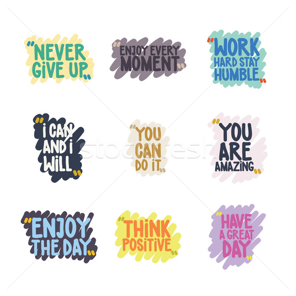 Handwritten Quote Set Stock photo © Vanzyst