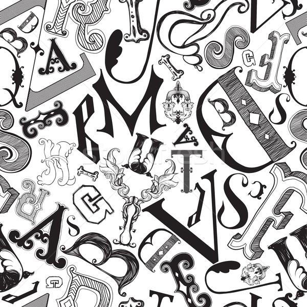 Lettere caotico mess decorativo Foto d'archivio © Vanzyst