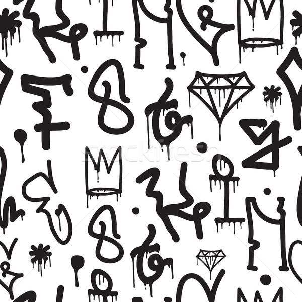 ストックフォト: 落書き · ベクトル · 書く · 手
