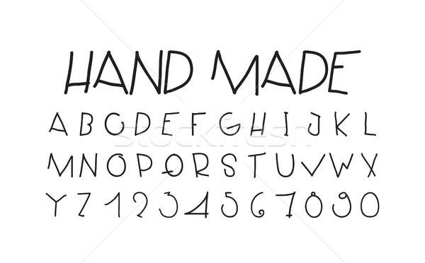 Naive sloppy handwriting, decorative flashy letters Stock photo © Vanzyst