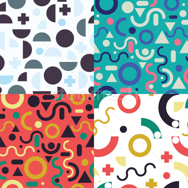 Set seamless pattern  Stock photo © Vanzyst
