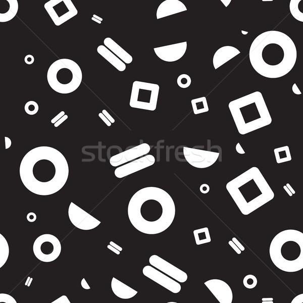 Seamless pattern geometric shapes Stock photo © Vanzyst