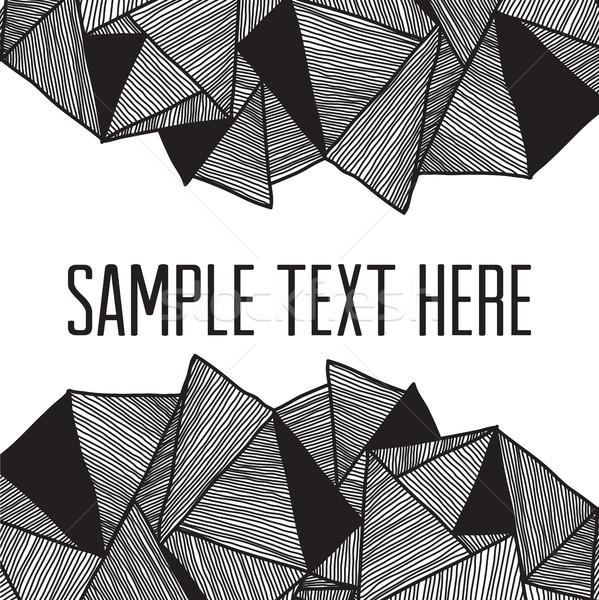 Abstract vierkante frame tekst meetkundig Stockfoto © Vanzyst
