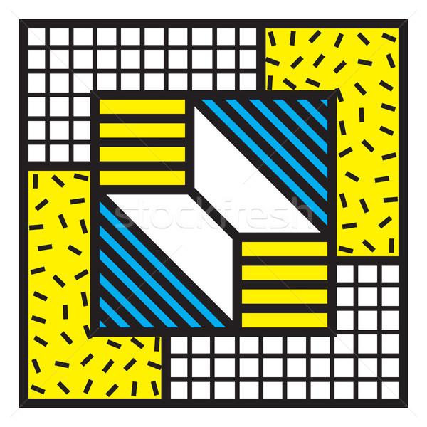 抽象的な パッチ ベクトル ステッカー 90年代 80年代 ストックフォト © Vanzyst
