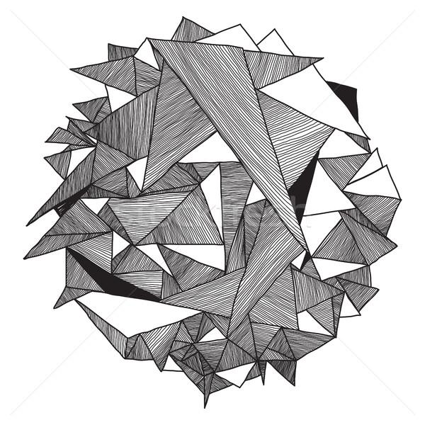 Abstract geometrisch patroon retro driehoek geometrie Stockfoto © Vanzyst