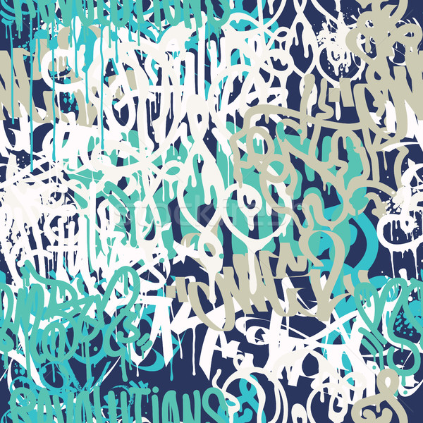 Graffiti background seamless pattern Stock photo © Vanzyst