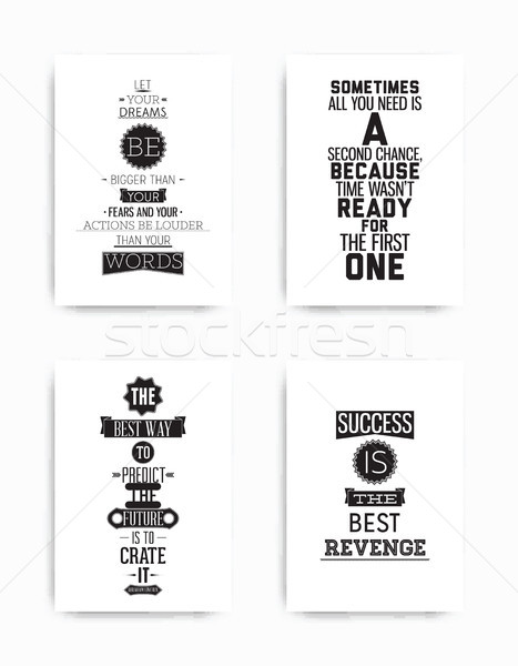 Set posters quote Stock photo © Vanzyst