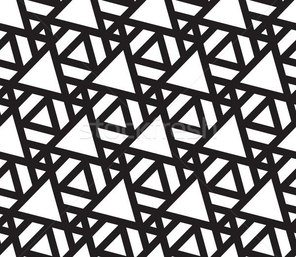 Driehoek abstract meetkundig moderne stijlvol Stockfoto © Vanzyst