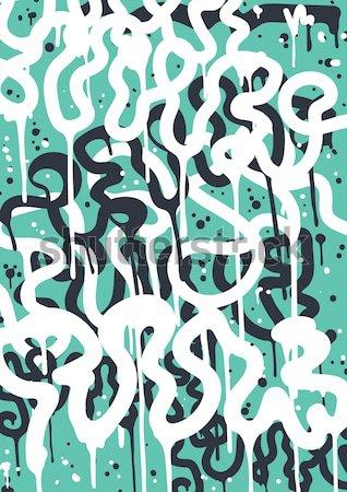 граффити искусства вектора моде шрифт современных Сток-фото © Vanzyst