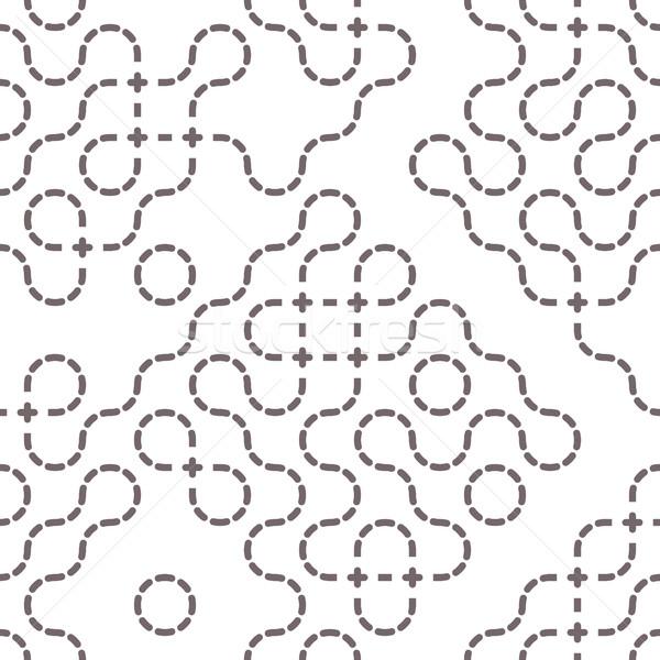 Proste geometryczny wektora wzór line bezszwowy Zdjęcia stock © Vanzyst