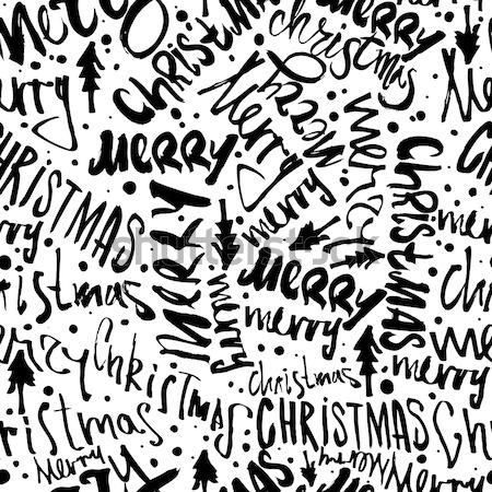 Graffiti minta végtelen minta vektor címkék ír Stock fotó © Vanzyst