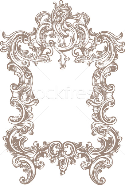 Frame Baroque Stock photo © Vanzyst